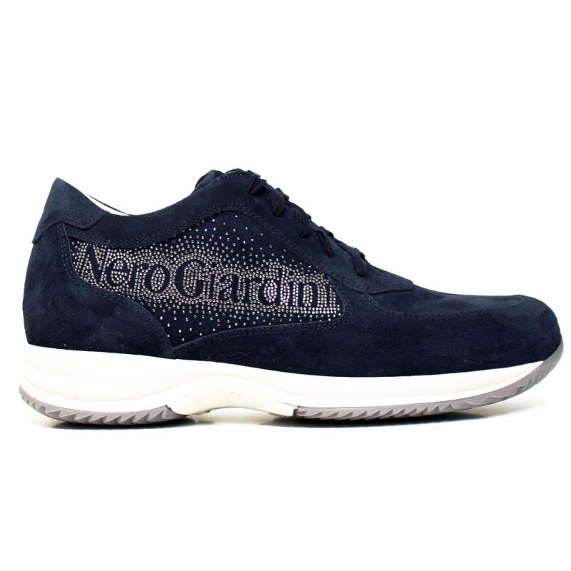 nero giardini sneaker donna blu in pelle