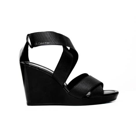 Calvin Klein Elastic sandal High Wedge Art. N11074 BBK
