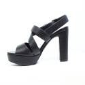 Luciano Barachini Woman Sandals Wedge Article 6042A Black