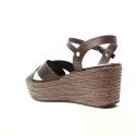 Luciano Barachini Woman Wedge Sandal Ecoleather 6017D TDM Dark Brown