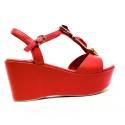 Luciano Barachini Wedge Sandals Women High Ecoleather 6315D SURIMI