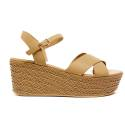 Luciano Barachini Woman Wedge Sandal Leather 6017B Natural