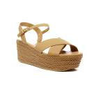 Luciano Barachini Woman Wedge Sandal Ecoleather 6017B Natural
