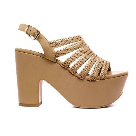 Luciano Barachini Heel Sandal Women Ecoleather 6027 B Natural