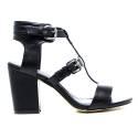 Francesco Milano High Heel Sandals Black L190P