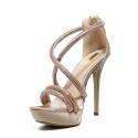 Ikaros Sandal Jewel Elegant Powder A2603Nude