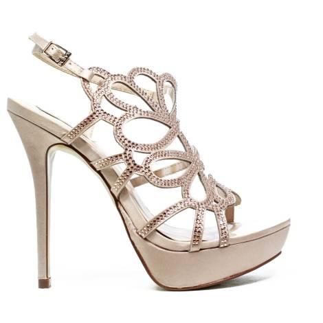Ikaros Sandal Jewel Elegant Powder A2609Nude