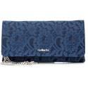 Nero Giardini borsa donna in pelle e pizzo P643093D 200 blu