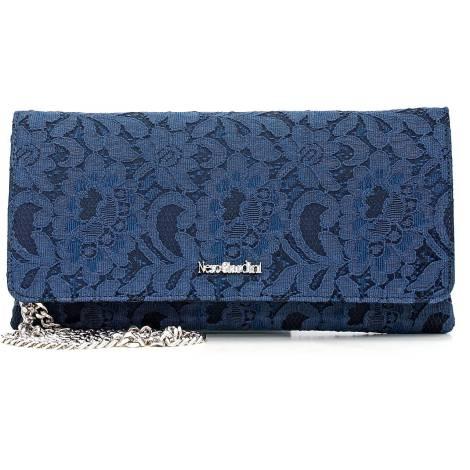 Nero Giardini woman leather/lace bag P643093D 200 blu