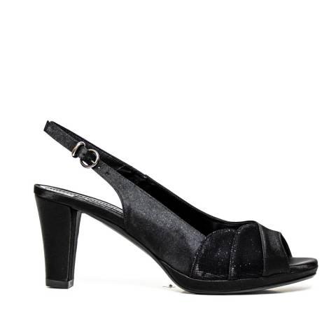Bacta De Toi 309 999 Sandalwood Satin Black Heel