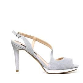 Bacta De Toi 456 0810 Silver Sandal With Heel