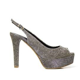 Bacta De Toi 452 321 Silver Sandal With Heel