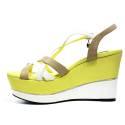 Braccialini Women Wedge Sandals High B27 Yellow