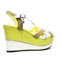 Braccialini Sandalo Donna Zeppa Alta B27 Giallo