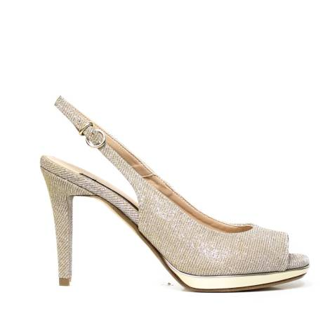 Bacta De Toi 455 940 Silver Sandal With Heel
