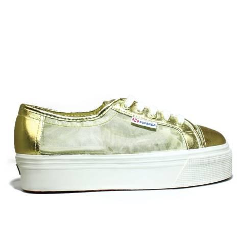 Superga Sneaker Ginnica Con Zeppa Alta Art. S 006JB0 2790-NETW 174 Orange Gold