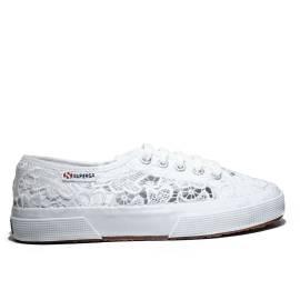 Superga Sneaker Bassa Ginnica Art. S 008YA0 2750-MACRAMEW 901 White