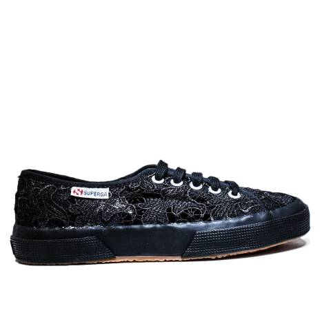 Superga Sneaker Low Ginnica Art. S 008YA0 2750-MACRAMEW 996 Full Black