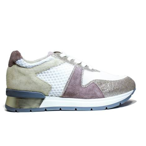 Janet Sport Sneakers Ginnica 37855 Low shoe Bonito Gold White Powder