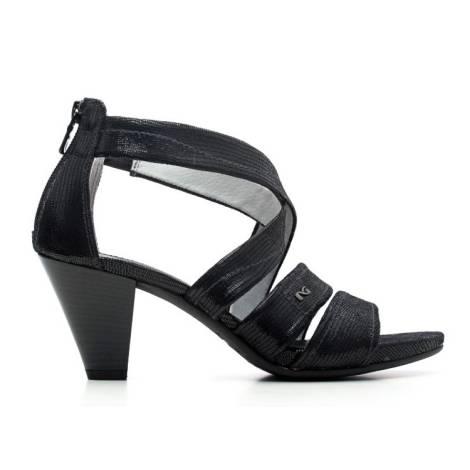 Nero Giardini Sandalo Donna Con Tacco Medio Pelle Articolo P615552D 100 Nero