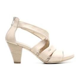 Nero Giardini Sandal Woman Heel Middle Leather Item P615551D 410 Sand