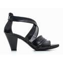 Nero Giardini Sandalo Donna Con Tacco Medio Pelle Articolo P615551D 100 Nero