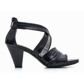 Nero Giardini Sandal Woman Heel Middle Leather Item P615552D 100 Black