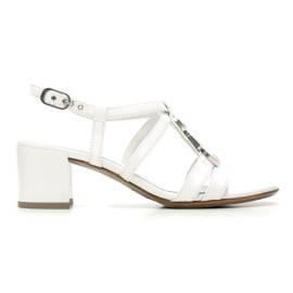 Nero Giardini Sandal Mid Hell Woman Leather Item P615540D 707 White