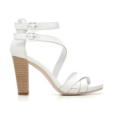 Nero Giardini Sandalo Tacco Alto Donna Pelle Articolo P615536D 707 Bianco
