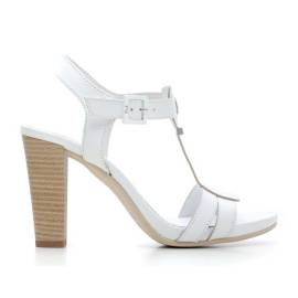 Nero Giardini Sandalo Tacco Alto Donna Pelle Articolo P615535D 707 Bianco