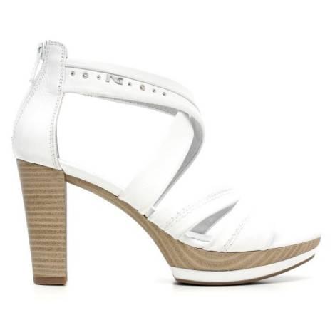 Nero Giardini Sandalo Tacco Alto Donna Pelle Articolo P615520D 707 Bianco